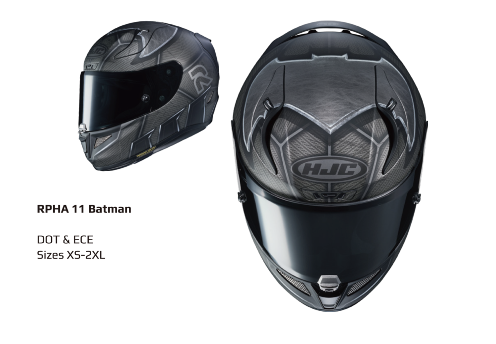 HJC Helmets Presents Officially Licensed DC Motorcycle Helmets