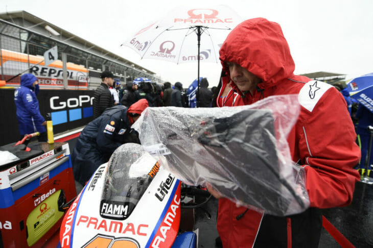 WorldSBK race two at Imola race was canceled because of rain.