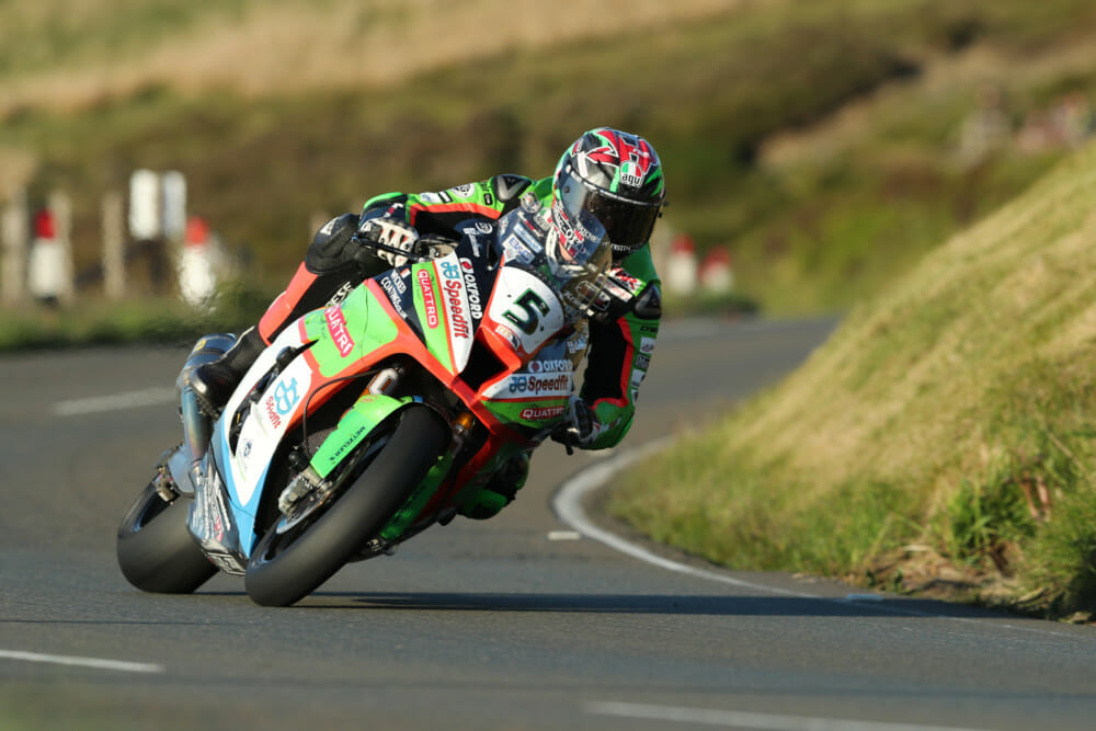 James Hillier was the third rider to break the 128mph barrier, with a speed of 128.07 mph on his Superbike.