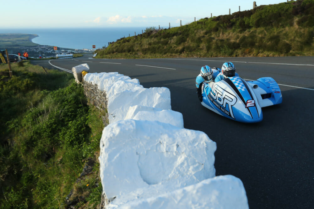 After the rain on Monday, qualifying for the 2019 Isle of Man TT Races fuelled by Monster Energy resumed on Tuesday evening with the Sidecars getting their first outing on the TT Mountain Course this year
