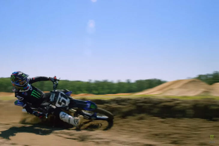 Justin Barcia riding his Yamaha YZ250 inBAMLAND 2-Stroke video.
