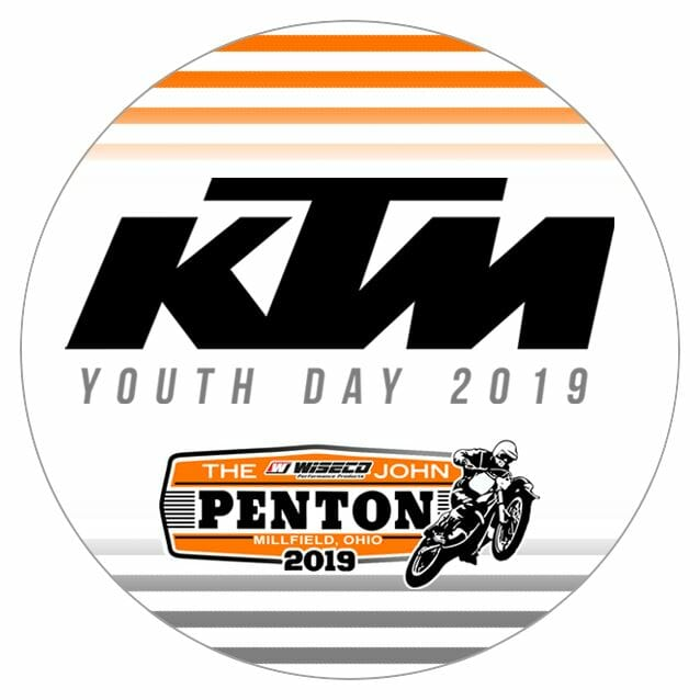 KTM Youth Day is scheduled for May 19 at the John Penton GNCC in Millfield, Ohio.