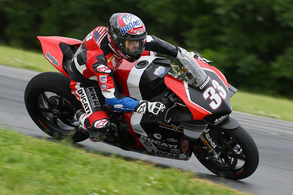 Kyle Wyman will ride the Inde Motorsports Ranch/KWR Ducati Panigale V4R in the Superbike class.