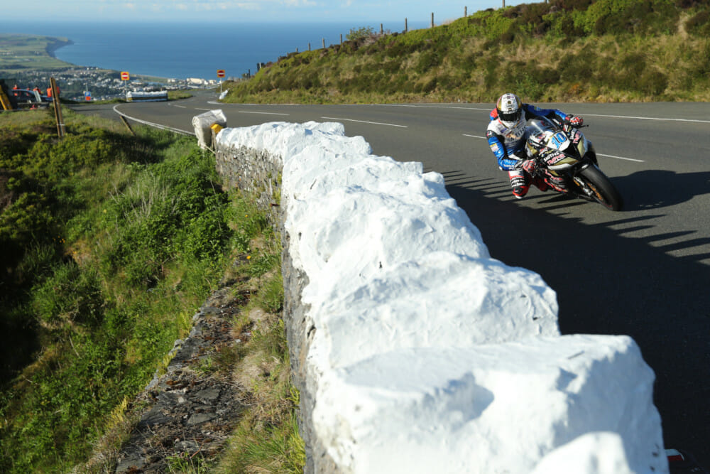 Peter Hickman was forced to stop twice on his Smiths Racing BMW Superbike during Isle of Man TT Qualifying