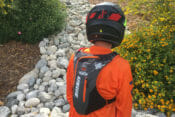 USWE KC66 Hydration Pack rear view on rider.