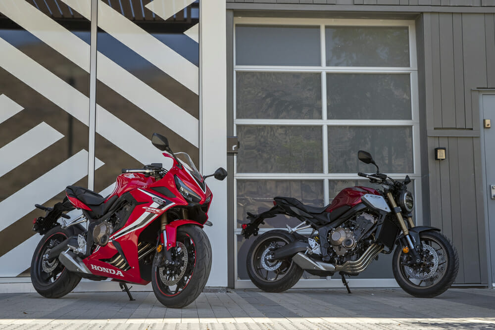 One platform provides two rather different motorcycles with the 2019 Honda CB650R and CBR650R