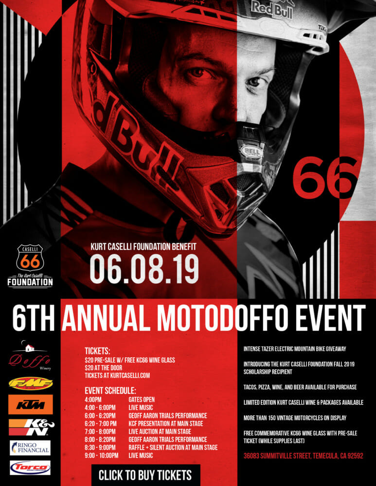 2019 Kurt Caselli Foundation MotoDoffo Event