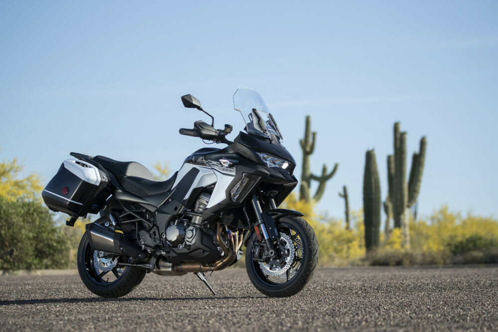 The 2019 Kawasaki Versys 1000 SE LT+ Review was done in Arizona.