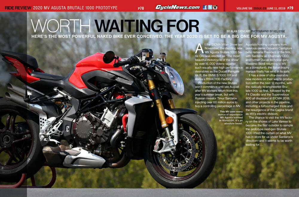 Here's the most powerful nakedbike ever conceived, the 2020 MV Agusta Brutale 1000 Prototype. The year 2020 is set to be a big one for MV Agusta.