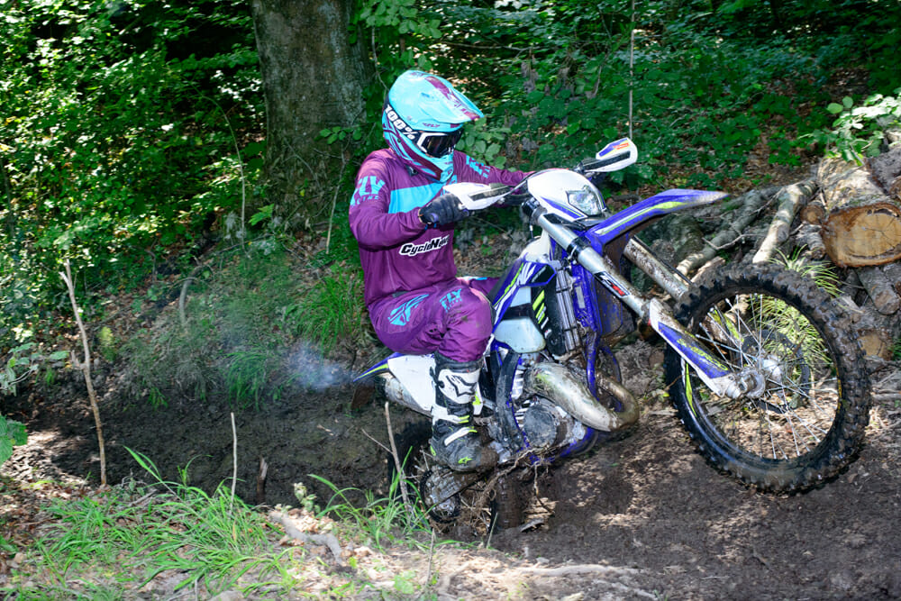 The Sherco SE125R Racing is pure fun and a perfect bike for the aspiring off-road youth racer. Photo: Ron Lawson