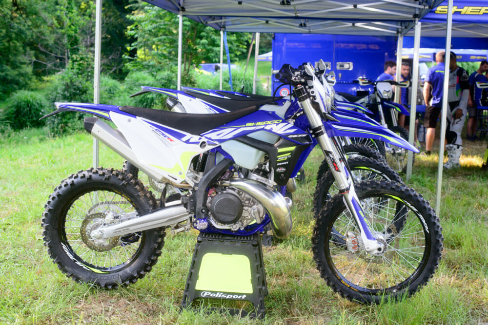 This is the 2020 Sherco SE250R Racing model. It comes with WP suspension.