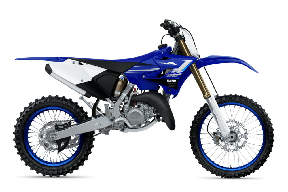 Joining the YZ250FX and YZ450FX four-strokes, and the YZ250X two-stroke for 2020 is an all-new model, the YZ125X.