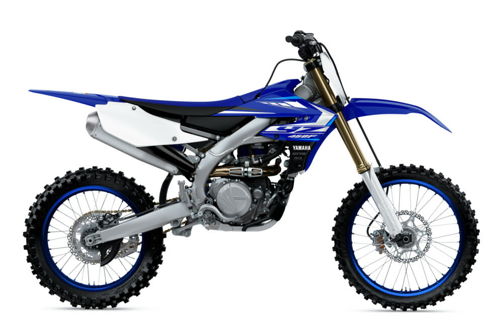 "Yamaha says the YZ450F been redesigned to provide a lighter, more powerful, and better handling ""motocross experience."""