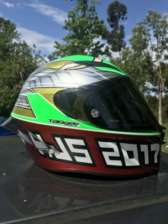 Tag and Bronson Tagger Designs Custom Helmets right side