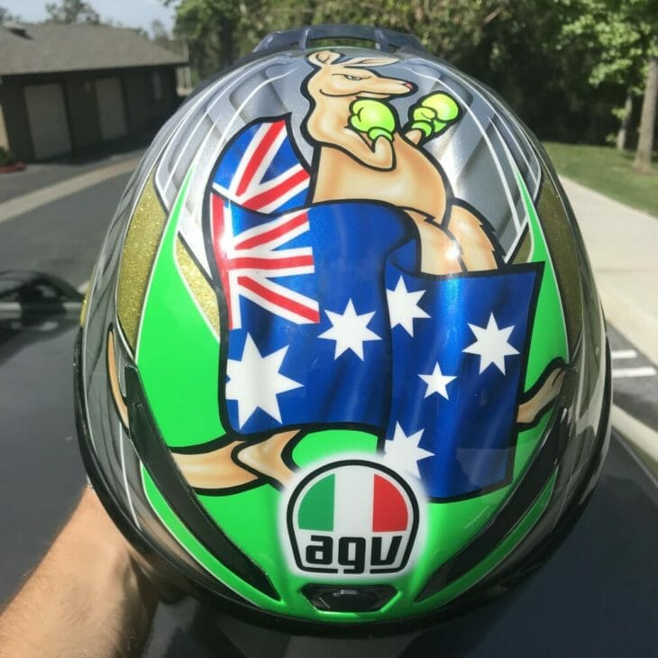 Tag and Bronson Tagger Designs Custom Helmets top side
