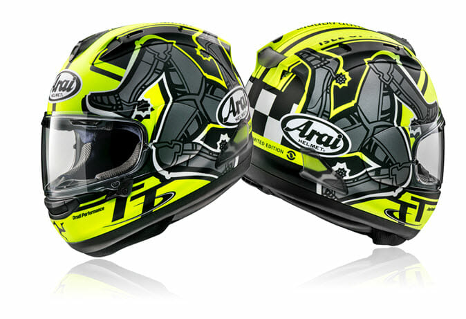 2019 Arai Corsair-X Isle of Man Limited Edition Graphic