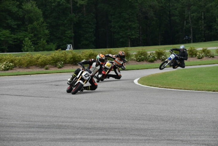 Riders enjoying the small bike track at Barber Motorsports Park.
