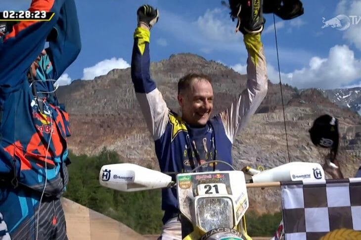 Graham Jarvis 2019 Erzberg Rodeo winner.