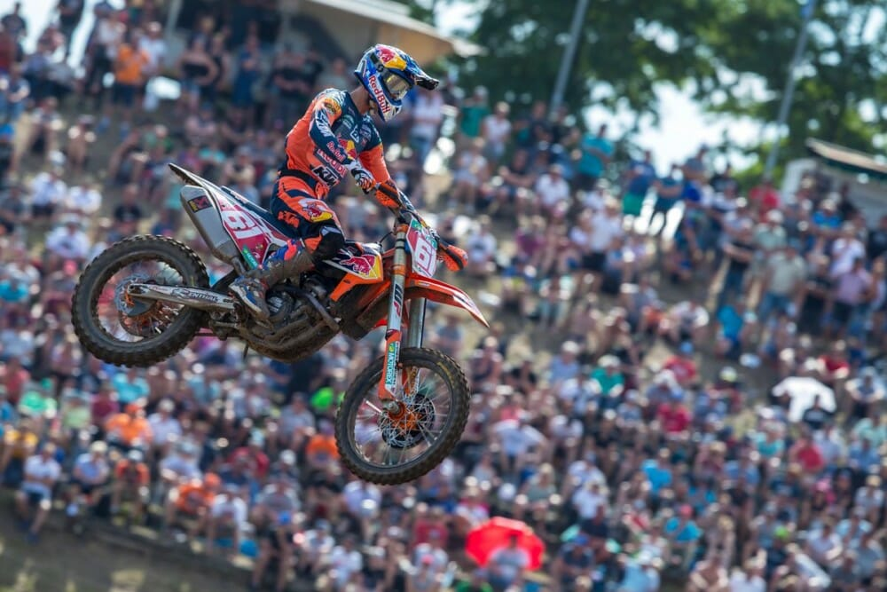 Jorge Prado on the KTM 250 SX-F 2019 at Teutschenthal MXGP