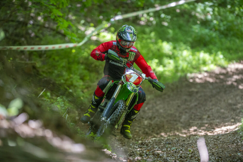Strang was in the mix all weekend but a bad first enduro test kept him out of contention. // Photo: Darrin Chapman