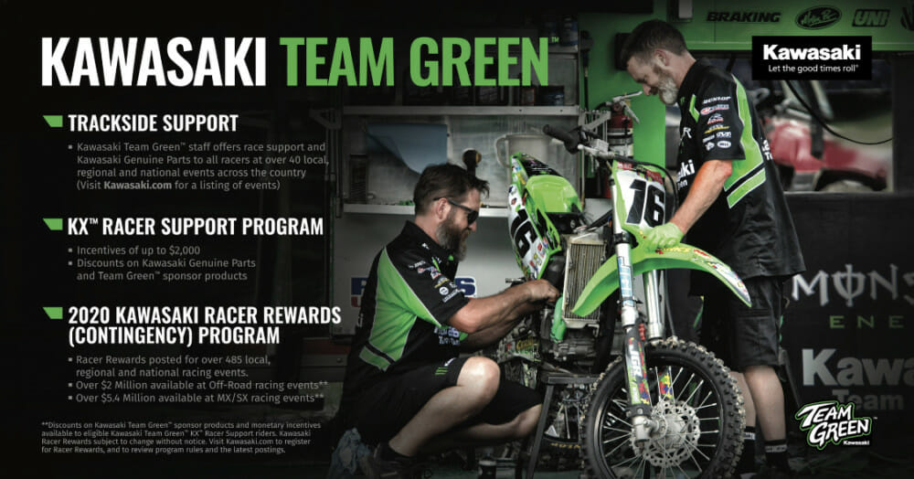 Kawasaki Team Green™ Releases 2020 Racer Rewards Program