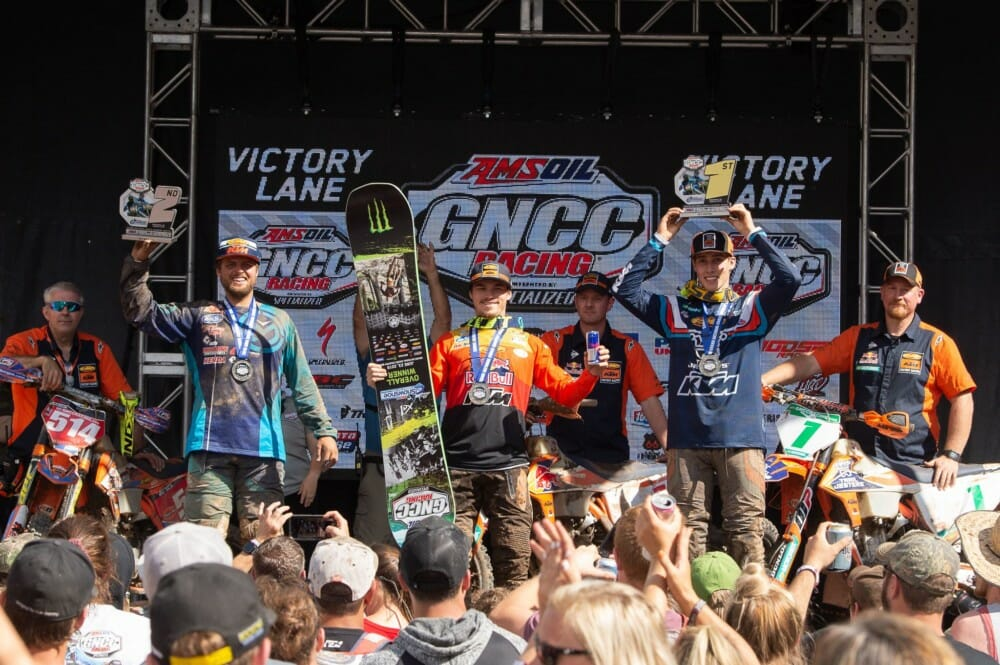 Russell Leads a KTM Podium Sweep at Snowshoe GNCC