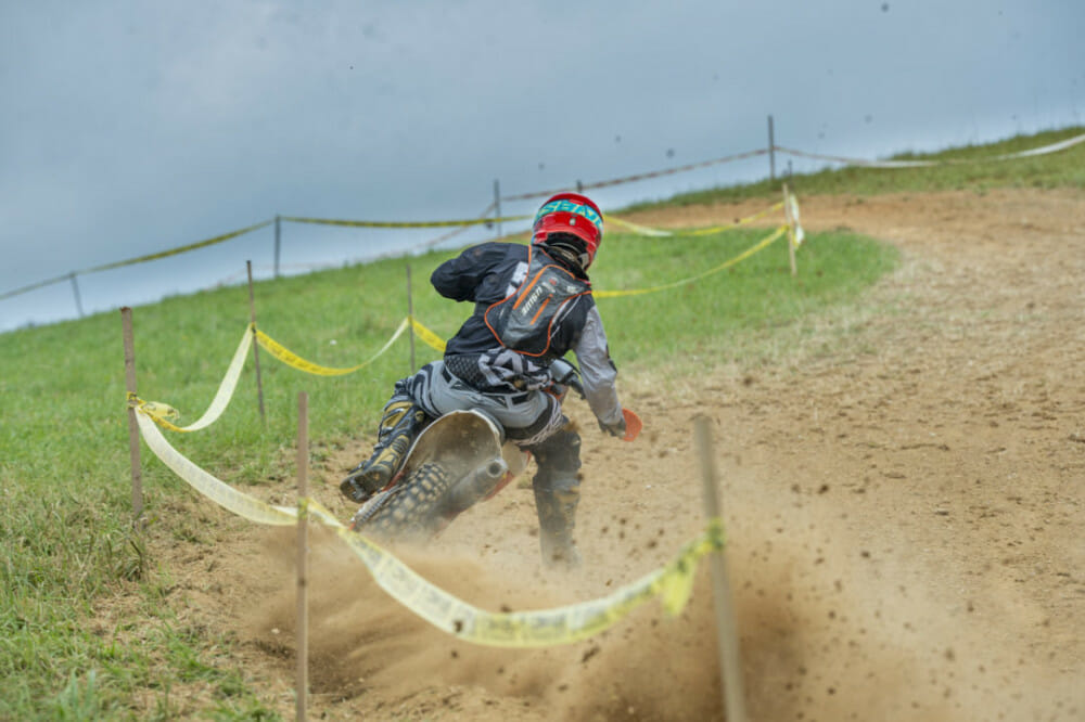 2017 Full Gas champ, Stu Baylor, made a guest appearance while testing for this year's ISDE and ended up taking the win on Sunday. // Photo: Darrin Chapman