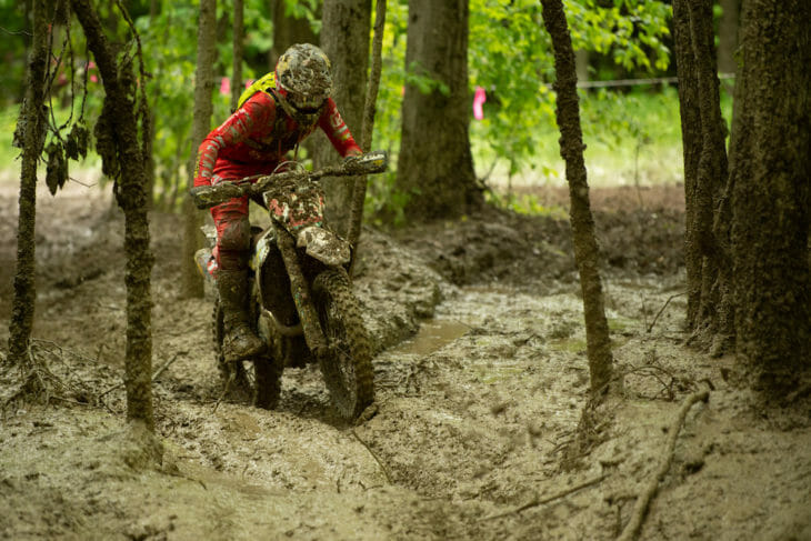Thad Duvall competing at the Tomahawk GNCC 2019.