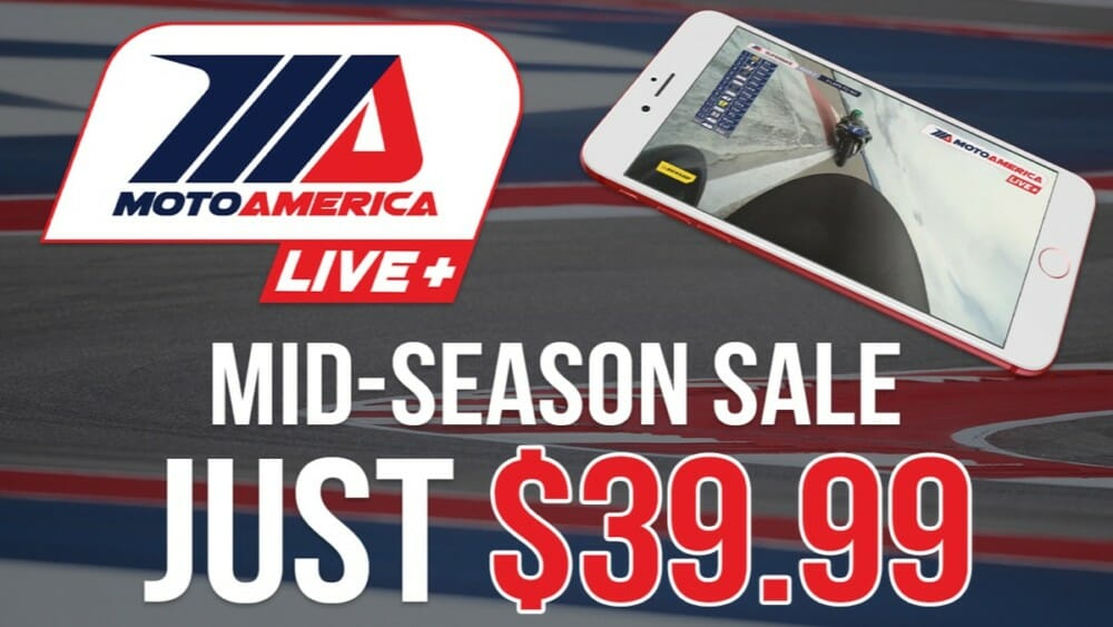 MotoAmerica Live+ sale