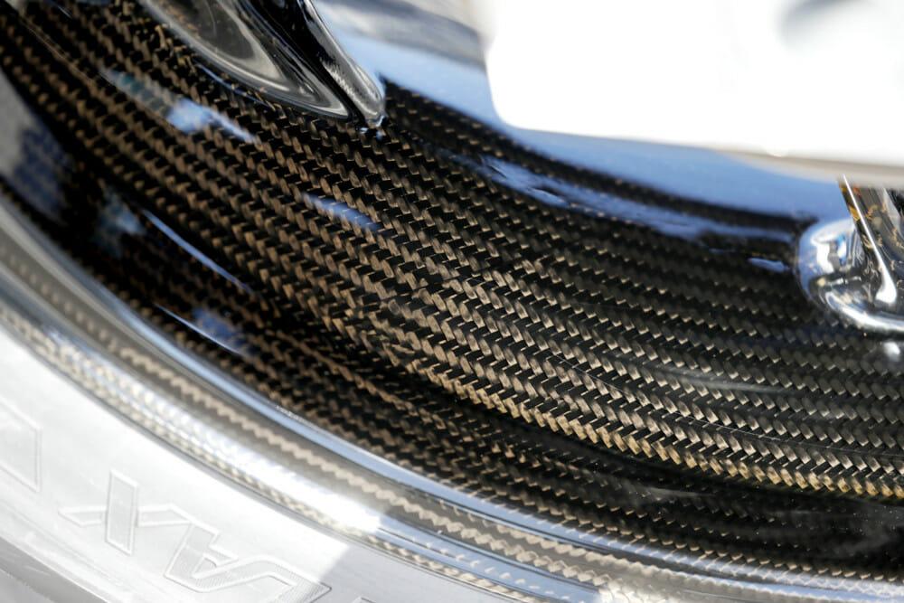 The 2020 BMW S 1000 RR has carbon fiber wheels.