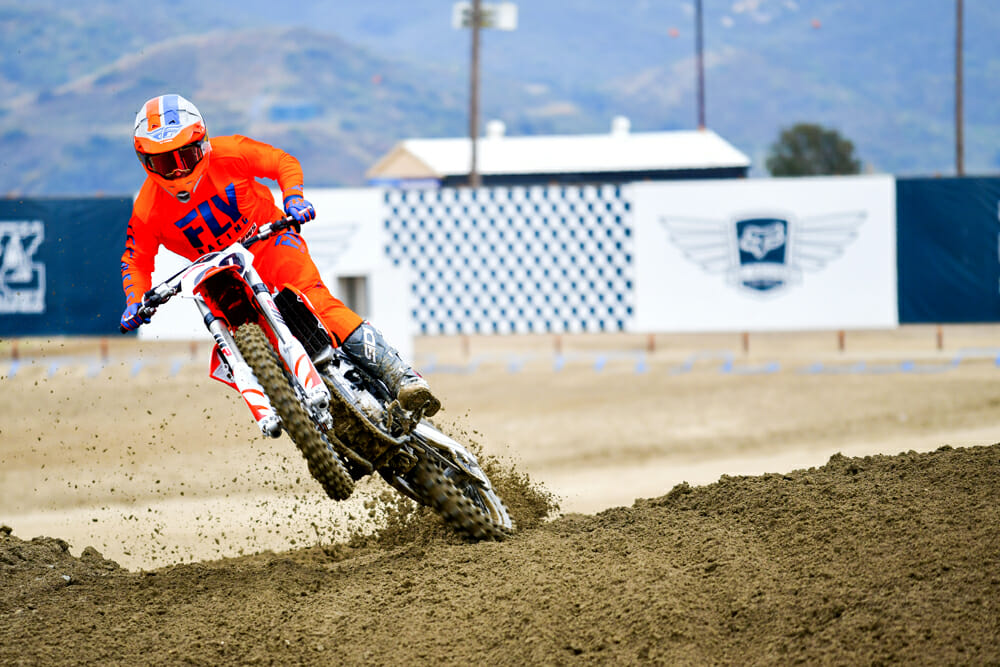 In the 2020 KTM 450 SX-F Review, testers found lots of useable power is readily available.