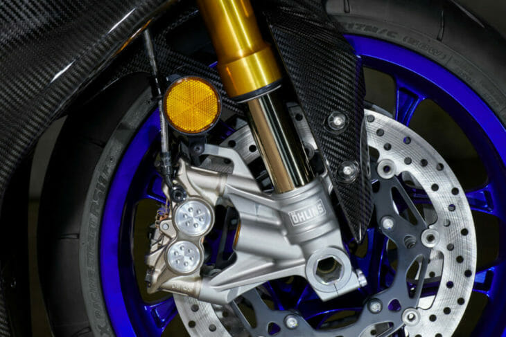 2020 Yamaha YZF-R1 and YZF-R1M First Look fork