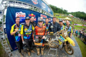 Alex Martin collected his first podium overall of the season for the JGRMX team. | Photo - Browndogwilson
