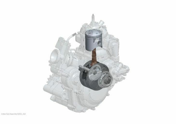 2020 Beta RR two-stroke motor.