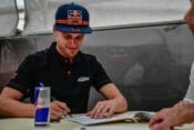 Brad Binder will steer the KTM RC16 next year for the Red Bull KTM Tech3 team in 2020 MotoGP