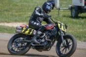 James Rispoli Piloting the Black Hills Harley-Davidson ProBEAM XG750R at the Lima Half-Mile.