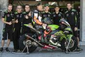 Jeremy McGrath with the Kawasaki WorldSBK team at Laguna Seca 2019