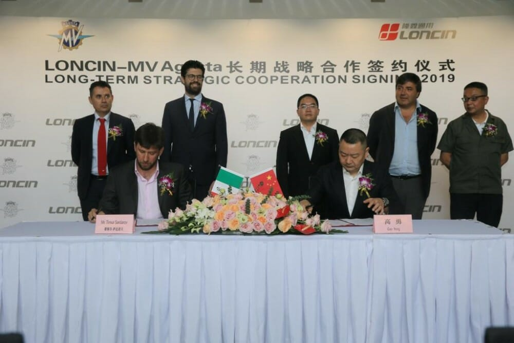 MV Agusta and China's Loncin Motor Co. have a new partnership in the development of 350-500cc MV Agusta products.