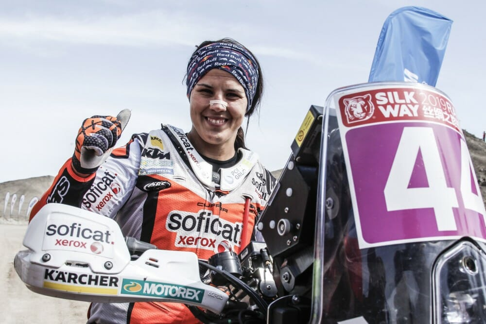 KTM Factory Racing's Laia Sanz won the Women's category with an excellent seventh overall in the 2019 Silk Way Rally