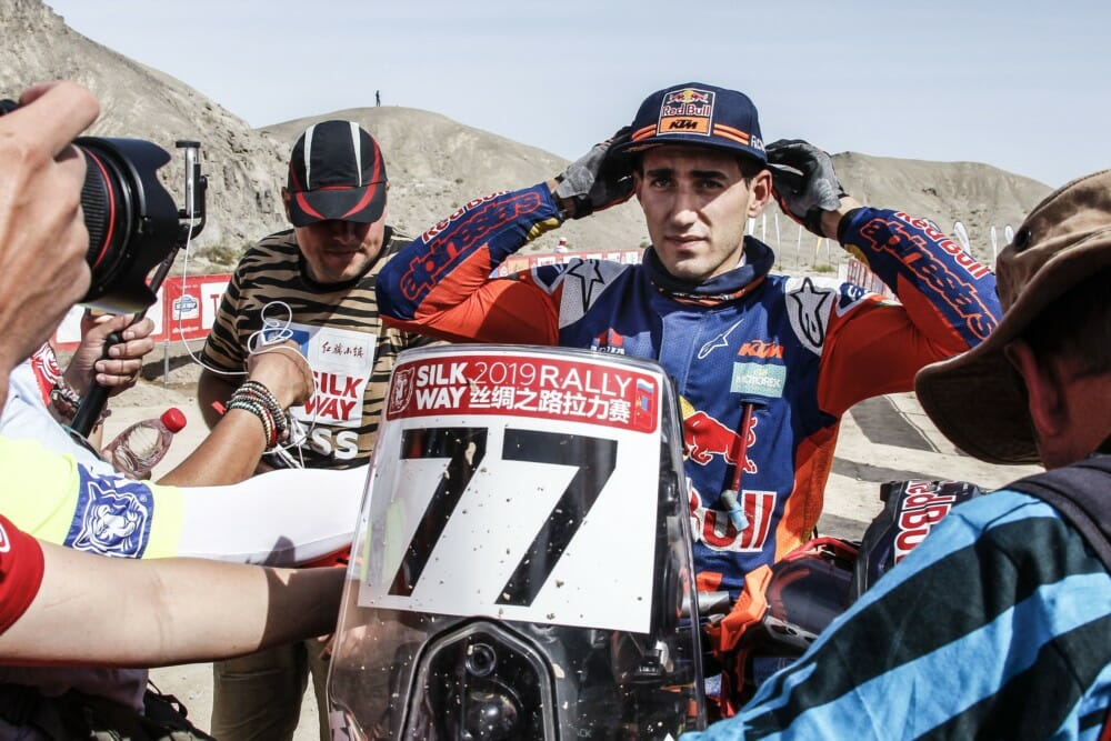 Luciano Benavides finished in fifth overall to top the Junior class in the 2019 Silk Way Rally.