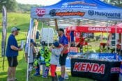 Cory Talking with a National Enduro Family after Signing Autographs for the kids. Photo By Darrin Chapman
