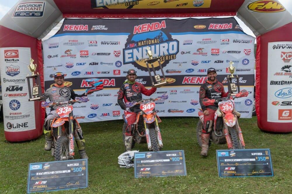 Rattlesnake National Enduro podium. Photo by Shan Moore
