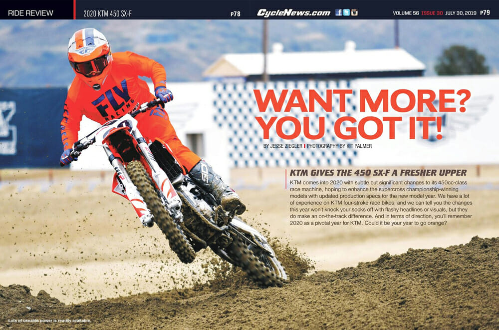 2020 KTM 450 SX-F Review: KTM is clearly on a roll with its competitive motocross machines