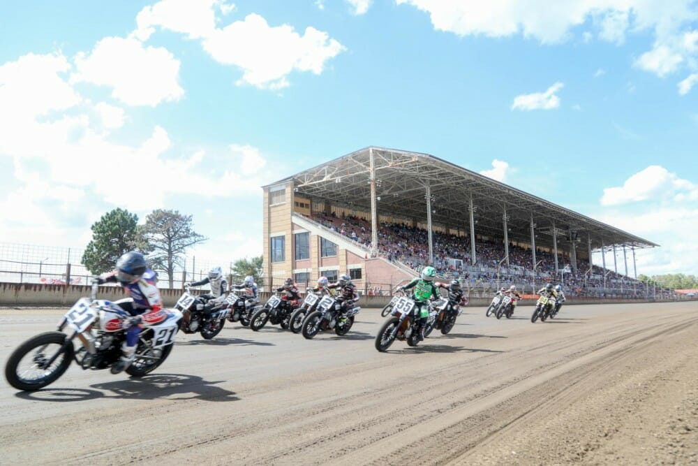 American Flat Track announced today its back-to-back-to-back racing extravaganza planned for Labor Day weekend.