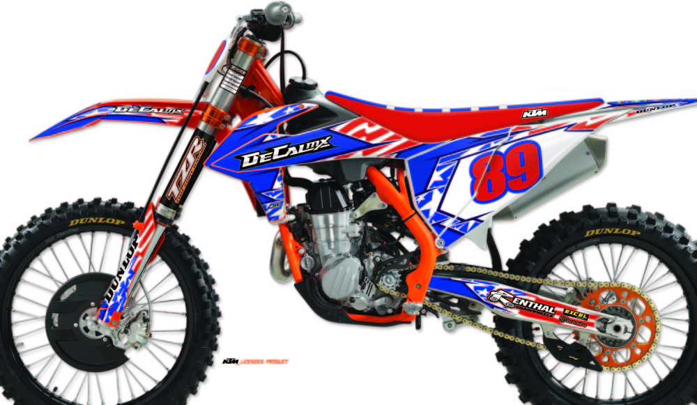 DeCal Works Stars and Stripes Graphics Kit