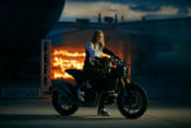 """Vicki Golden Shatters Motorcycle Firewall Record During HISTORY Event, """"Evel Live 2"""""""