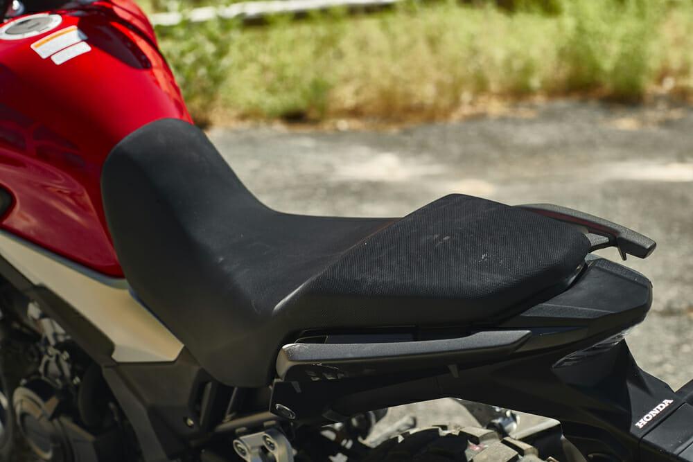 The seat on the 2019 Honda CB500X
