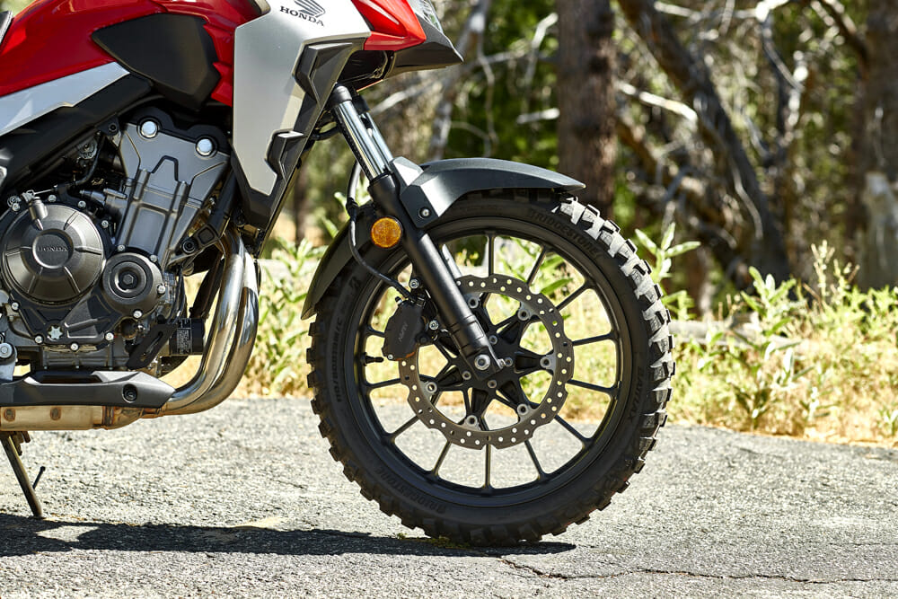 The 2019 Honda CB500X is off-road capable in the 2019 Honda CB500X Review
