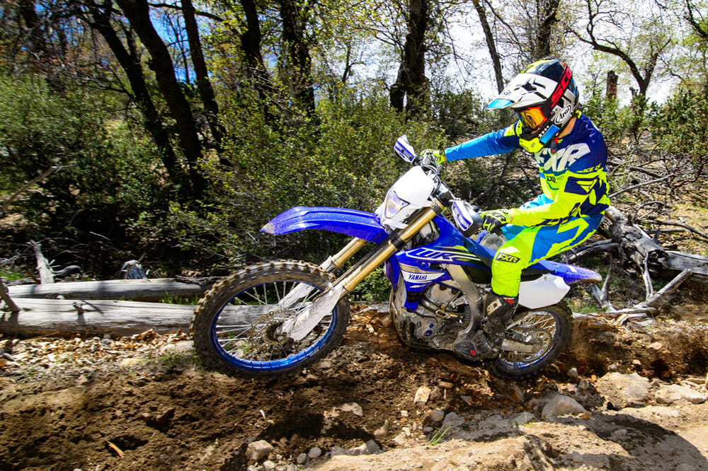 The 2019 Yamaha WR450F an be ridden aggressively or casually with great success.