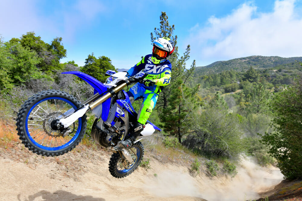 The 2019 Yamaha WR450F has soft and cushy suspension